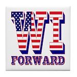 Wisconsin WI Forward Tile Coaster