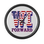 Wisconsin WI Forward Large Wall Clock
