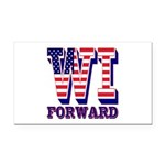 Wisconsin WI Forward Rectangle Car Magnet