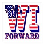 Wisconsin WI Forward Square Car Magnet 3