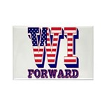 Wisconsin WI Forward Rectangle Magnet