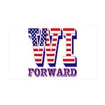 Wisconsin WI Forward 35x21 Wall Decal