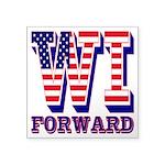 Wisconsin WI Forward Square Sticker 3