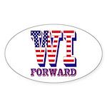 Wisconsin WI Forward Sticker (Oval)
