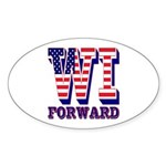 Wisconsin WI Forward Sticker (Oval 10 pk)