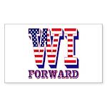Wisconsin WI Forward Sticker (Rectangle 50 pk)