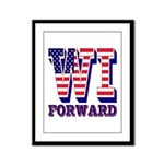 Wisconsin WI Forward Framed Panel Print