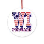 Wisconsin WI Forward Ornament (Round)