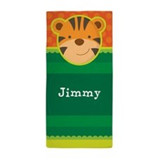 Tiger Animal Personalized Beach Towel
