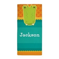 Alligator Personalized Kids Beach Towel
