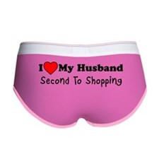 Love Husband Second To Shopping Women's Boy Brief
