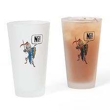 Knight Say Ni Cartoon Drinking Glass