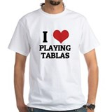 I Love Playing Tablas White T-shirt