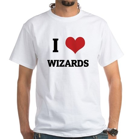 I Love Wizards White T-shirt