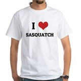 I Love Sasquatch White T-shirt
