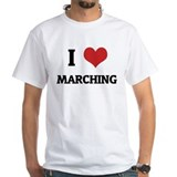 I Love Marching White T-shirt