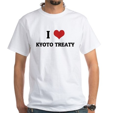 I Love Kyoto Treaty White T-shirt