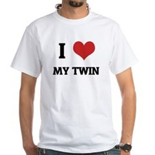 I Love My Twin White T-shirt