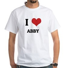 I Love Abby White T-shirt