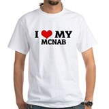 I Love My McNab White T-shirt