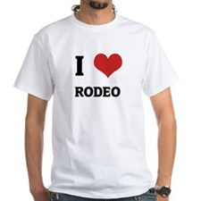 I Love Rodeo White T-shirt