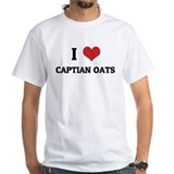I Love Captian Oats White T-shirt