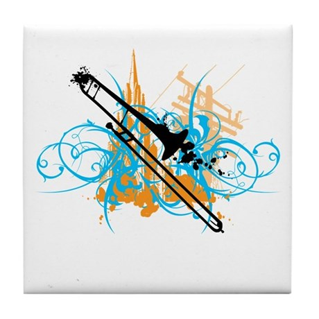 Urban Trombone Tile Coaster