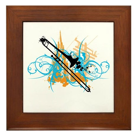 Urban Trombone Framed Tile