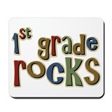 1st Grade Rocks First School Mousepad