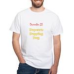 White T-shirt: Popcorn Popping Day