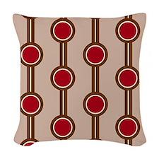 Retro Circle Pattern Woven Throw Pillow