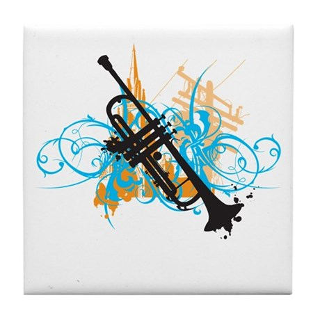 Urban Trumpet Tile Coaster