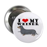 "Luv My Weiner- 2.25"" Button (100 pack)"