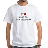 My Heart Volleyball White T-shirt