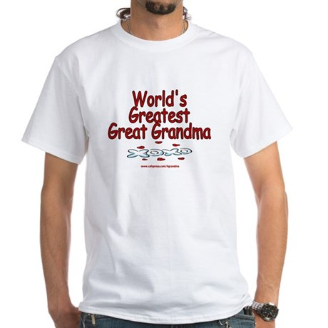 Great Grandma White T-shirt