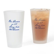 Queen is 50-Jan blue Drinking Glass