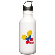 Cute Colombian Butterf Water Bottle