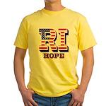 Rhode Island RI Hope Yellow T-Shirt