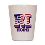 Rhode Island RI Hope Shot Glass
