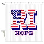 Rhode Island RI Hope Shower Curtain
