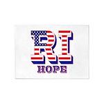 Rhode Island RI Hope 5'x7'Area Rug