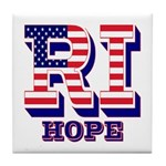 Rhode Island RI Hope Tile Coaster