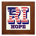 Rhode Island RI Hope Framed Tile