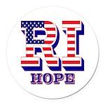 Rhode Island RI Hope Round Car Magnet