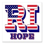 Rhode Island RI Hope Square Car Magnet 3