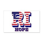 Rhode Island RI Hope 20x12 Wall Decal