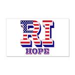 Rhode Island RI Hope 20x12 Wall Decal
