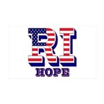 Rhode Island RI Hope 35x21 Wall Decal