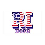 Rhode Island RI Hope 35x21 Wall Decal