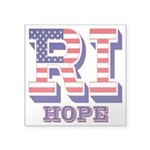 Rhode Island RI Hope Square Sticker 3